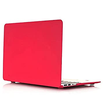 Funda Dura Macbook Air 13 - AQYLQ Carcasa MacBook Air 13 [Candy Color] Ultra Delgado Plástico para MacBook Air 13 Pulgadas A1369/A1466 - Rojo