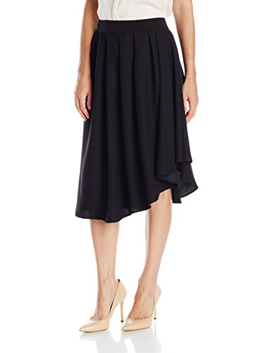 Lark & Ro Women's Draped Asymmetrical Hem Skirt