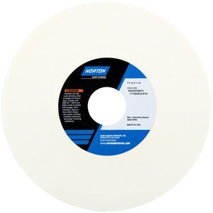 7'' x 1/4'' x 1-1/4'' Type 01 38A80-IVBE Grinding Wheel, (Case of 10)