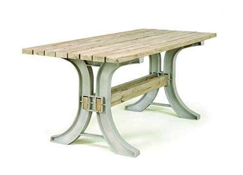 2x4 basics 90152 Patio Table, Flip Top Bench, Sand - Made of durable, maintenance-free structural resin, this all-weather patio table kit is built to last – 2x4s not included Customizable to your needs, make your DIY patio table any size up to 8 feet long, and stain, paint, or finish the wood as you desire All necessary hardware and easy-to-follow instructions included — simple assembly is required. Lumber and tools not included. - patio-tables, patio-furniture, patio - 31T2ad177KL -