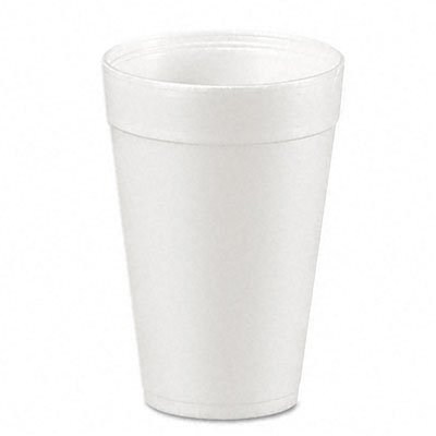 Disposable Hot cup 32 oz. White, Foam, Pk500 ()