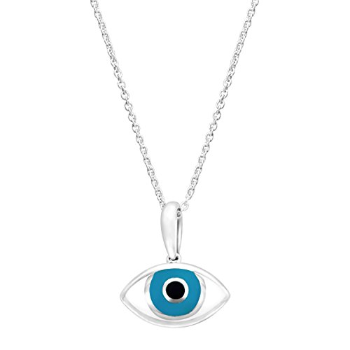 Kabana Medium 'Mati' Mother-of-Pearl Evil Eye Pendant for sale  Delivered anywhere in USA