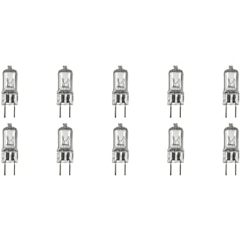 12Vmonster 10 Pack g8 20watt 120v halogen light bulbs JCD Type 110v 130v 20w t4 G8 120 volt