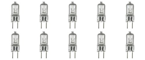 10 Pack-G8 50W 120V Halogen Light Bulbs JCD Type 110v 130v 50 Watt T4 G8 Under Cabinet Puck Lamp 120 Volt Undercabinet Microwave Oven Stove Top Kitchen Appliance Replacement Lighting Bi Pin Clear Lens - Light Bulb Stove
