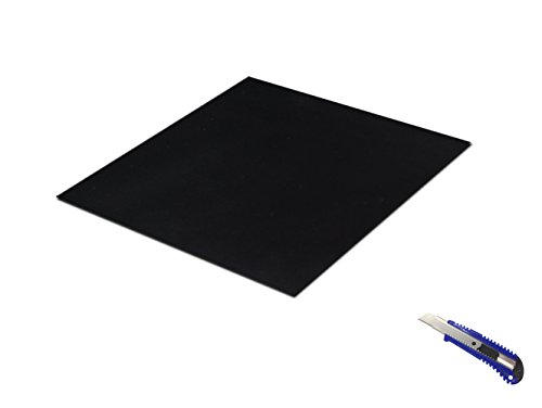 Rubber Sheet Black,Heavy Duty,11.8〃x11.8〃x0.059〃, Gaskets DIY Material, Supports, Leveling, Sealing, Bumpers, Protection, Abrasion, Flooring by coisound 1688