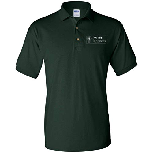 eThought Christian Apparel - Loving Kindness - Psalm 136 - Embroidered Jersey Polo Shirt