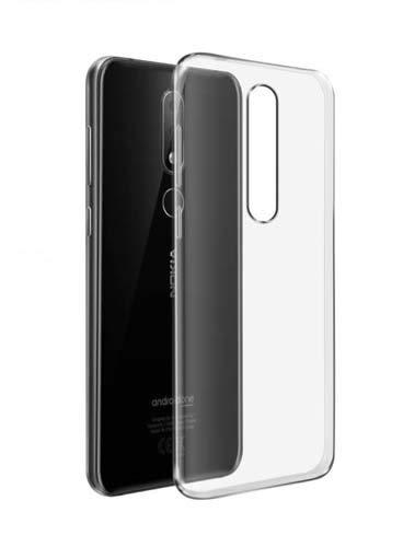 best loved 5cc92 7d7d1 CaseRepublic Transparent Back Cover for Nokia 6.1 Plus (Soft & Flexible  Back Cover)