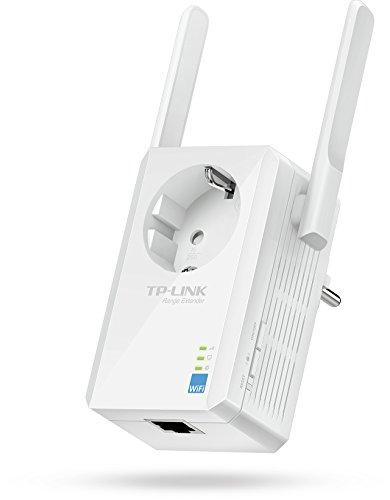 TP-Link TL-WA860RE WLAN Repeater(300 Mbit/s, 1 Port, integrierter Steckdose, 2 flexible externe Antennen, WPS, kompatibel mit allen WLAN Geräten)