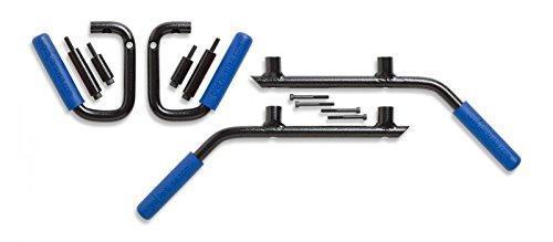 JK 4-Door Front & Back GraBars Set (Includes BLUE Rubber Grips) by GraBarsUSA