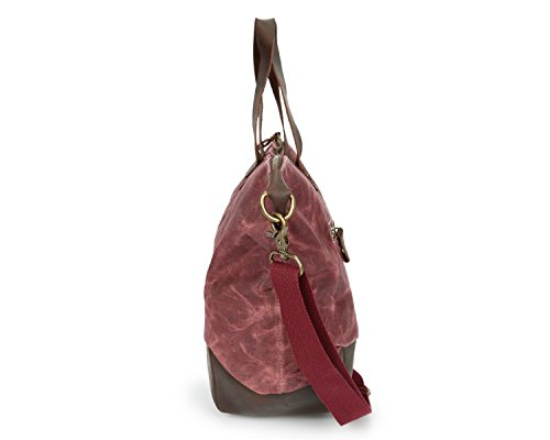 hombres Bags los cera impermeable de Pink Unisex aceite con Lona Bolso hombro caballo de Ying mensajero mano bolsa de de de loco Bolsa de de OwIxSq1gX