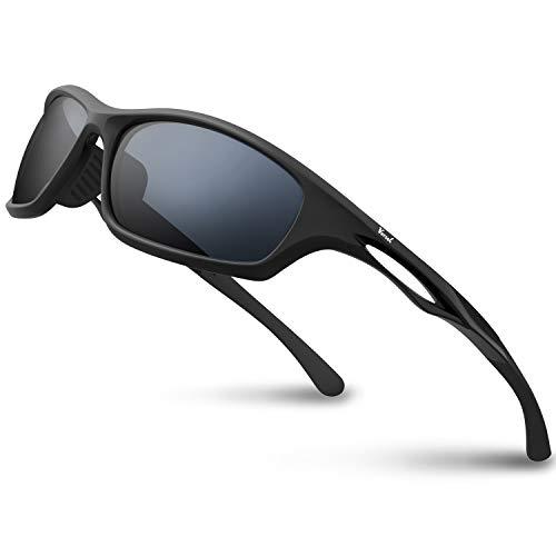 Versol Polarized Sports Sunglasses for Men Women Cycling Running Driving Fishing Golf Baseball Sunglasses Durable Frame
