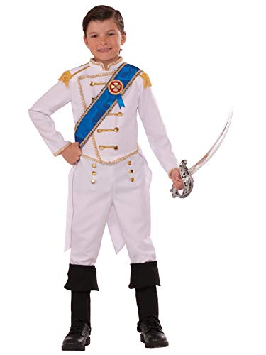 Forum Novelties Kids Happily Ever After Prince Costume, White, -