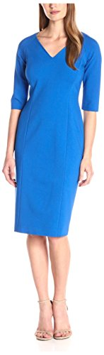 Lafayette 148 New York Women's V-Neck Shift Dress, Azurite 0 from Lafayette 148