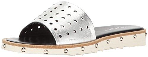 CHARLES DAVID Women's Space Slide Sandal Silver 5 M US