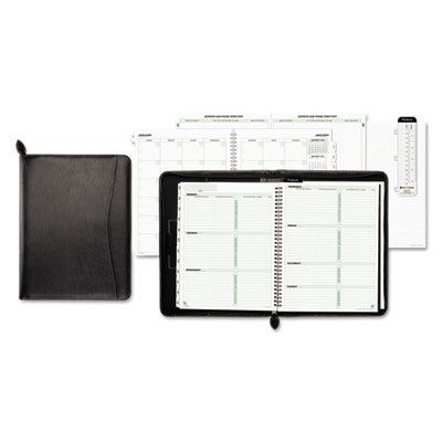 Day-Timer 85457 - Green Series Basque Leather Wirebound Organizer Starter Set, 8-1/2 x 11, (Green Series Basque Leather)