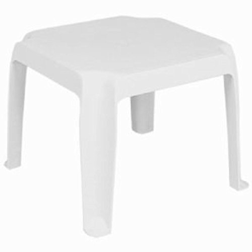 Compamia Sunray Resin Square Side Table White SET OF 2 For Sale