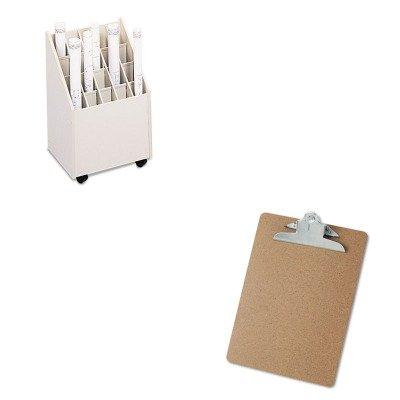 KITSAF3082UNV40304 - Value Kit - Safco Laminate Mobile Roll Files (SAF3082) and Universal 40304 Letter Size Clipboards (UNV40304)