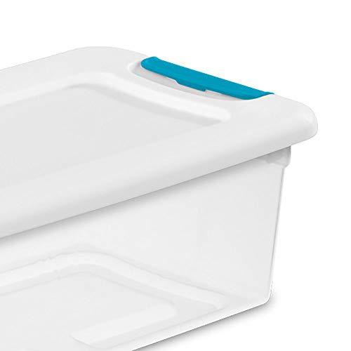 Sterilite 6-Quart Clear Blue Box Container
