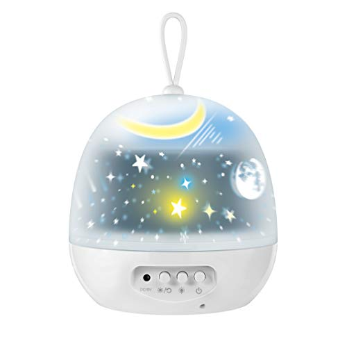 Kids Night Lights - 4 Set Films 360 Degree Rotating Star Projector, Star Night Lights Lamp with USB Cable, 4 LED Bulbs, 8 Color Changing, Best for Children Baby Bedroom Decorations, Christmas Gifts