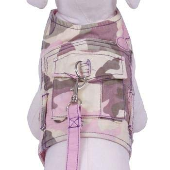 Cha-Cha Couture Combat Dog Harness with Leash Pastel Camo (X-Large)