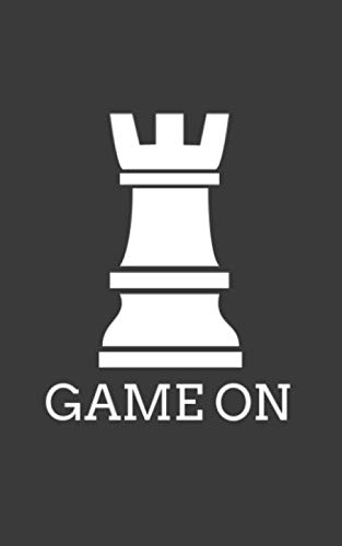 (Game On: Funny Game On Chess Piece Rook Sillouette Notebook with Doodle Diary Book Graphic Humor Gift For Geek Smart Gamers and Players Who Love Chess Pieces and Checker Board)