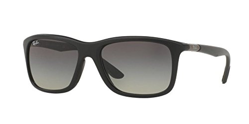 Ray-Ban Mens Gradient Collection Sunglasses (RB8352) Black Matte/Grey Plastic - Non-Polarized - - Ray Ban Collection Gradient