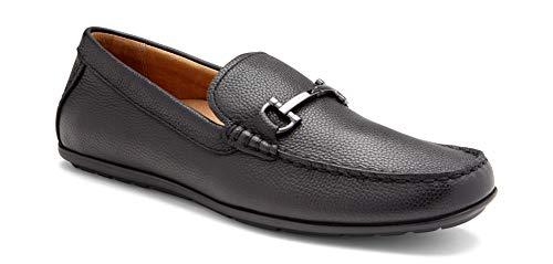 Vionic Men's Mercer Mason Driving Moccasins – Leather Loafer Men Concealed Orthotic Support – Black Black 10M