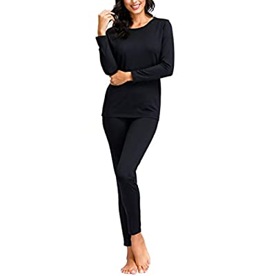 Degrees of Comfort Women Thermal Underwear | Fleece Lined Long Johns Set at Women's Clothing store