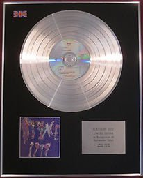 PRINCE - Limited Edition CD Platinum Disc - 1999