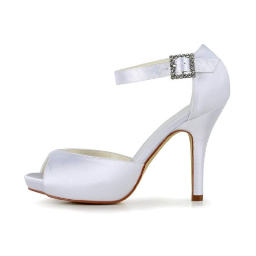 Jia Jia Wedding 37076 Hochzeitsschuhe Brautschuhe Damen Pumps Weiß