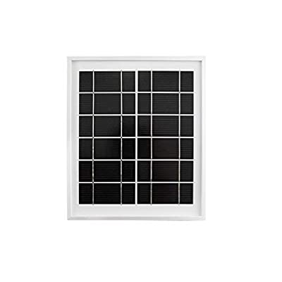 Waveshare Mini Solar Panel (6V 5W) with 156 Monocrystalline Cell for Solar Power Manager, Toughened Glass+ Anodic Oxidation Aluminum Alloy+ 0.25mm PET Material,6.0V ± 5% Voltage: Computers & Accessories