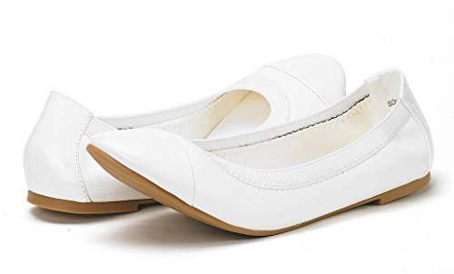 Walking White Flats PAIRS Ballerina Women's DREAM Shoes Flex Sole HwCHAq