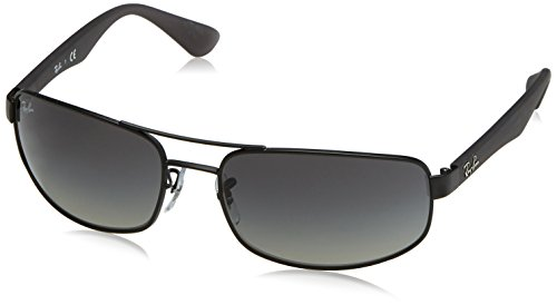 Ray-Ban RB3445 - MATTE BLACK Frame POLAR DARK GREY Lenses 64mm - Polarized Rb3445