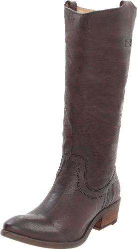 FRYE Womens Carson Tab Tall Knee-High Boot Dark Brown