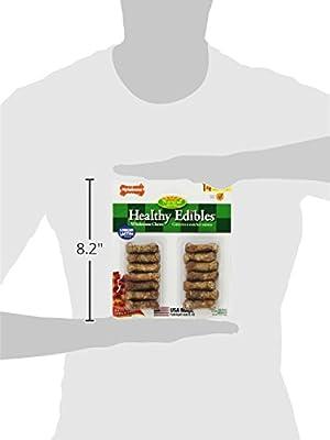 Nylabone Healthy Edibles Mini Bacon Flavored Dog bone Treats, 14 Count
