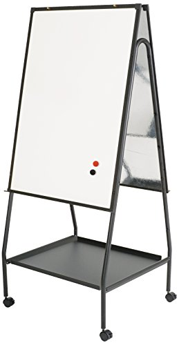 (Best-Rite Wheasel, Double Sided Magnetic Dry Erase Porcelain Steel Whiteboard Easel, 65