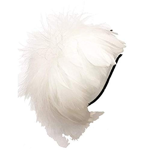 Yoshi edward Fascinators for Women, Elegant Feather Headband Hat Fascinator Wedding Headwear Ladies Royal Ascot (swan) -