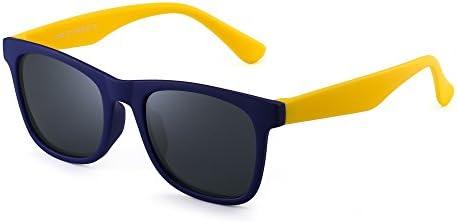 Amazon.com: JM Polarized Kids Sunglasses Rubber Boys Girls Children  Flexible Glasses Age 3-6 (Blue Yellow / Polarized Grey): Clothing