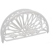 "7"" Napkin Holder - Fan Design 12 Pieces / White"
