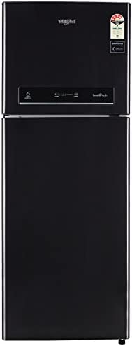Whirlpool 340 L 4 Star Double Door Frost-Free Refrigerator (IF INVÂ 355 ELT, Caviar Black, Inverter Compressor)