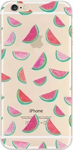 Deco Milk - DECO FAIRY Compatible with iPhone 8 / 7, Watermelon Pink Juicy Fruit Milk ice cream healthy diet series Transparent Translucent Flexible Silicone Clear Cover Case