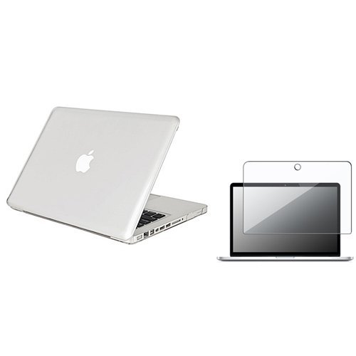 TOOGOO(R) Clear Snap On Case + Clear Screen Protector Compatible With 13-Inch Macbook Pro
