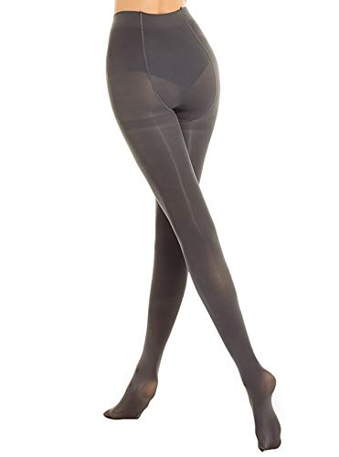 89f5bf56c302b Jual DancMolly Women's Semi Opaque Tights Basic Control-Top Footed ...