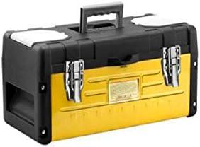 CHUNSHENN ツールボックス 工具箱 以下のために適した家庭用屋外修復ツールストレージボックス、黄色多機能プラスチックアイアン17インチ、サイズ42 * 21 * 20センチ(カラー:イエロー、サイズ:42 * 21 * 20センチ)