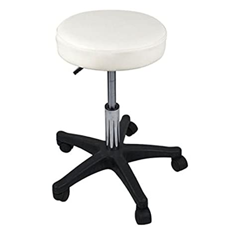 Deluxe Hydraulic Adjustable Height Rolling Stool Spa Facial Massage Tattoo (Black) GreenLife