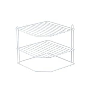 Home Basics CS30363 Corner Rack, White