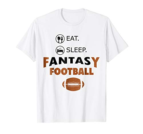Fantasy Womens Yellow T-shirt - Eat Sleep Fantasy Football T Shirt Gift Legend Commissioner