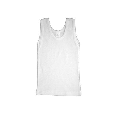 Stretch Rib Knit Tank (bambini White Rib Knit Sleeveless Tank Top Shirt 6-Pack)