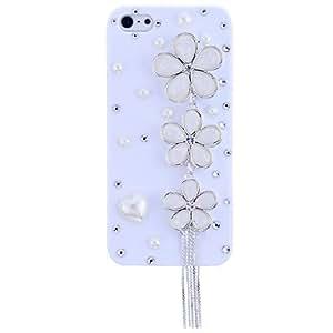 SHOUJIKE Lureme Pearl Flower Tassel Plastic for iPhone 5/5S