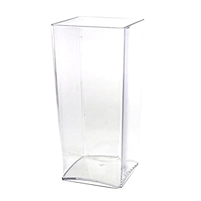 Homeford Firefly Imports Clear Acrylic Block Vase Display, 10-Inch,